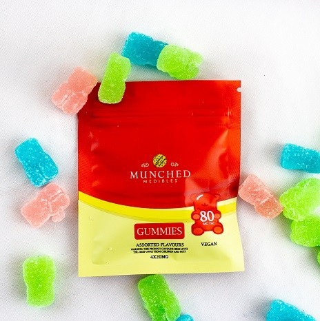 Buy munched medibles 80mg thc vegan gummies